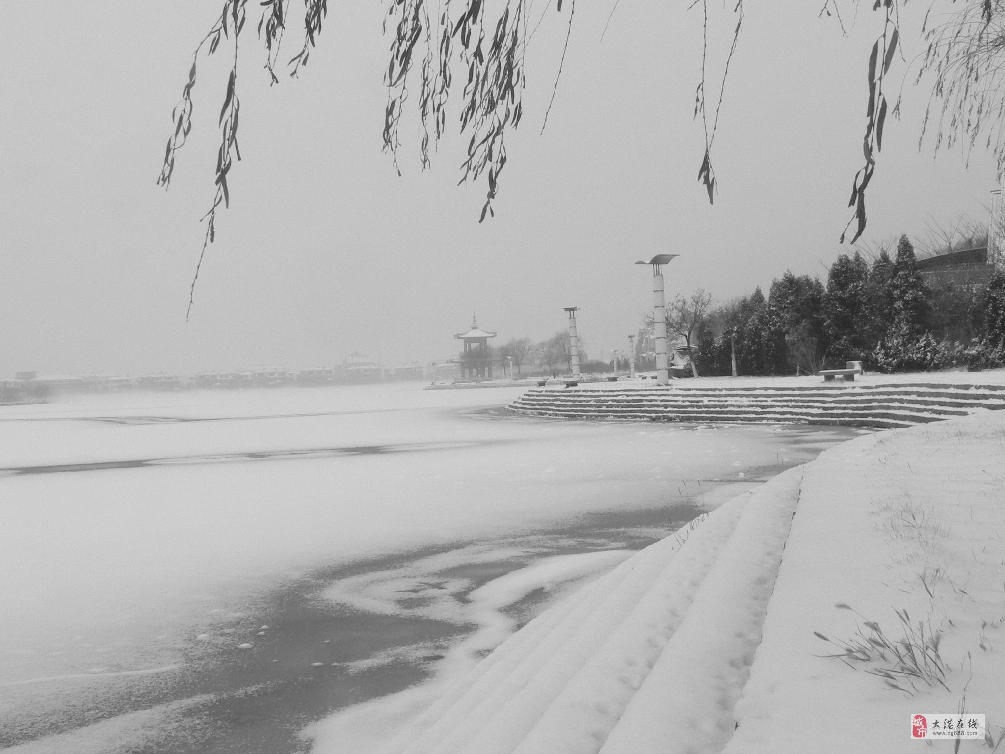 雪后临潮湖