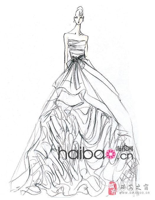 婚纱设计图,体验女人味!