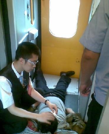 吉林到北京d74动车旅客突发病