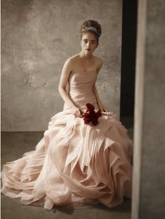 [贴图]我喜欢额鱼尾粉色婚纱 为他穿上