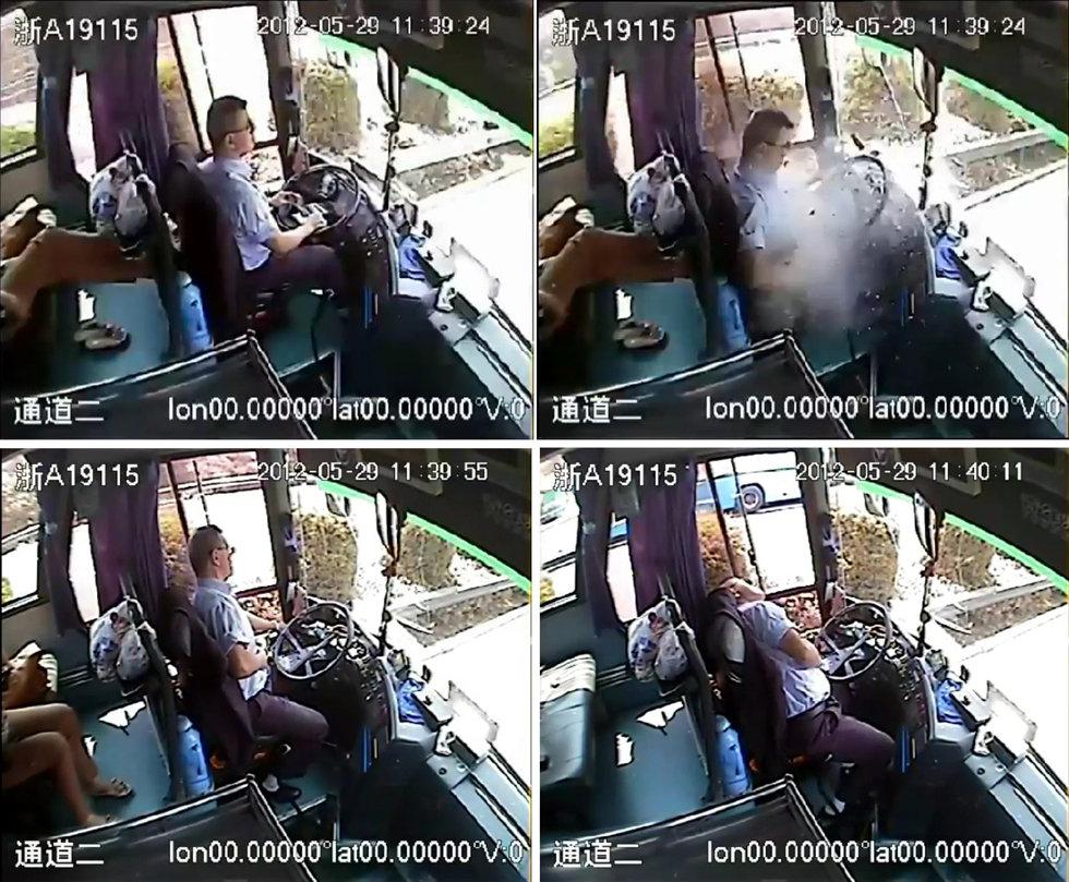 [转贴]组图:监控记录杭州司机忍痛停车救人全过程