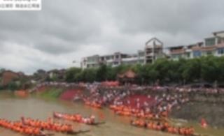 2012年6月24日余江白塔河划龙舟【视频】