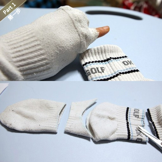 六个步骤用破袜子diy小狗娃娃