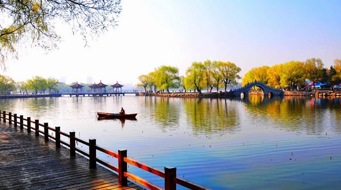 淮北南湖风景照片