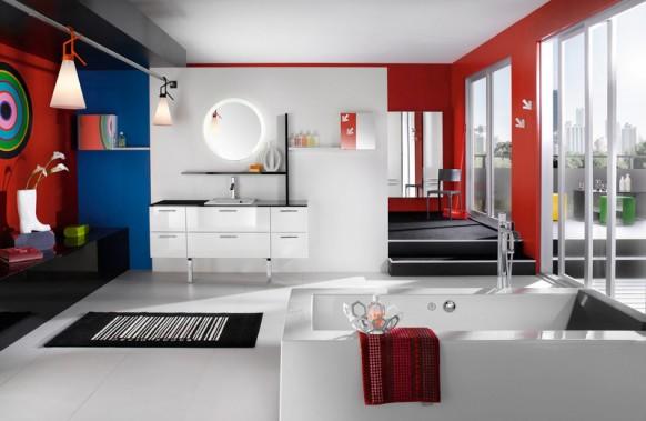 玩转色彩最养眼的卫浴空间设计方案