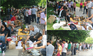 李祥红走访江华的奇石古玩市场