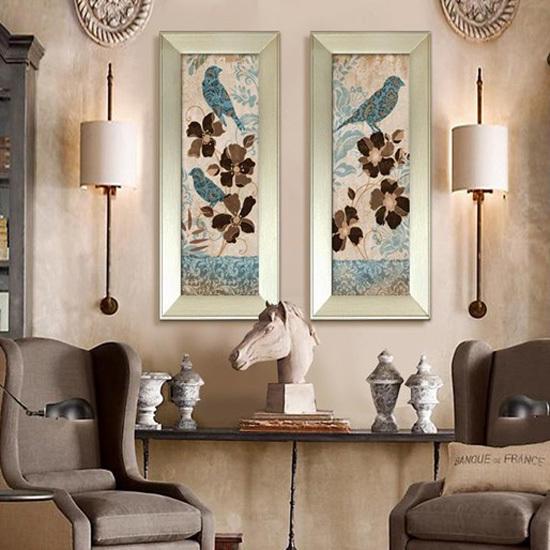 给墙面上美妆 20个经典装饰画背景墙设计
