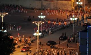 汤原傍晚广场文化