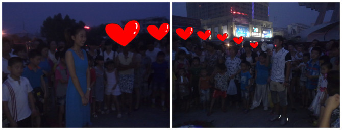 万福广场求婚现场 非常给力 非常火爆