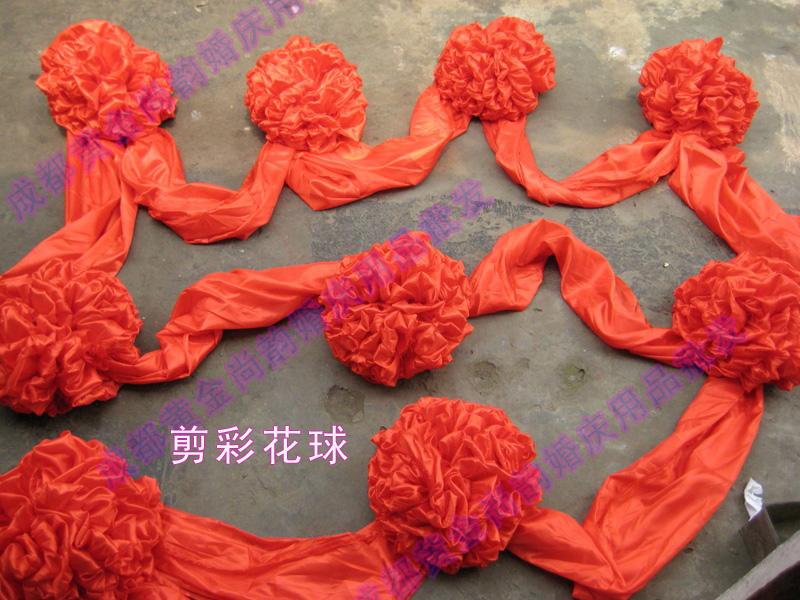 如何制作绸布大红花