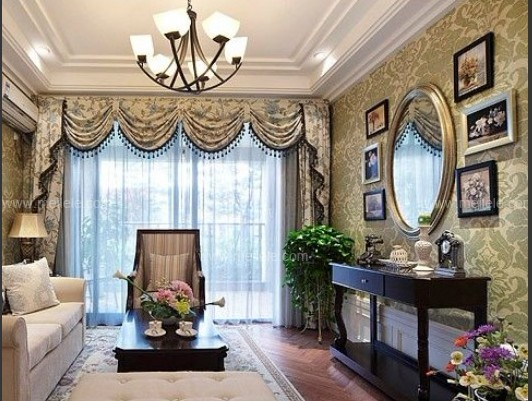 【软装设计】客厅窗帘效果图