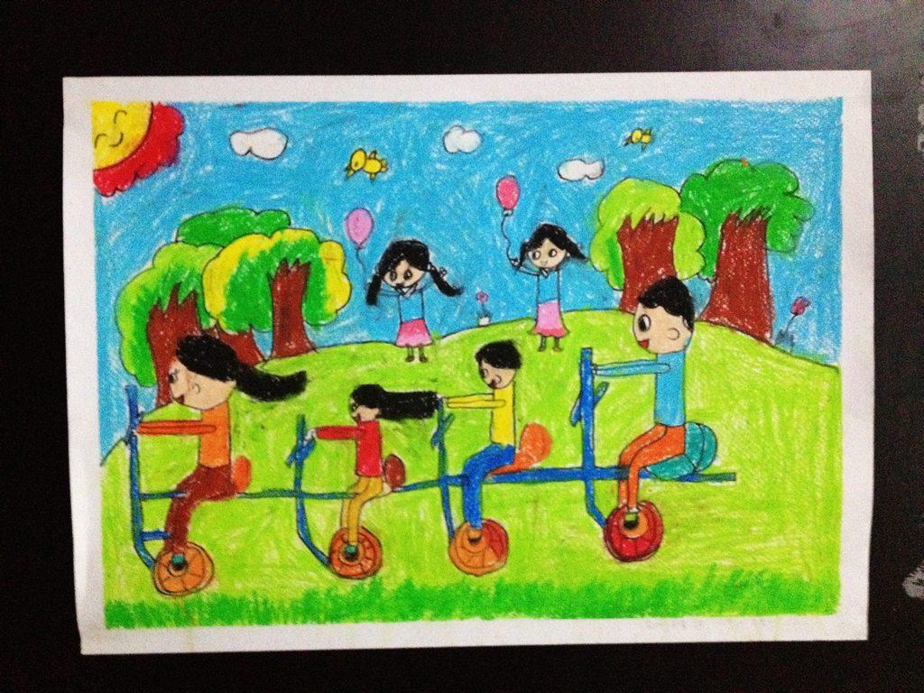 琼海六一儿童节儿童画展随拍