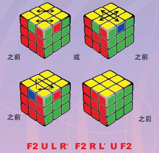 三阶魔方四步法公式 三阶魔方盲拧四步法