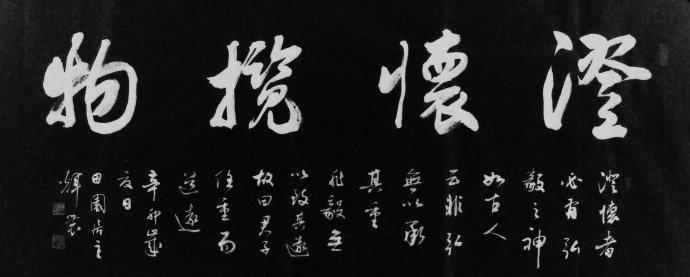 王辉农书法欣赏:澄怀揽物