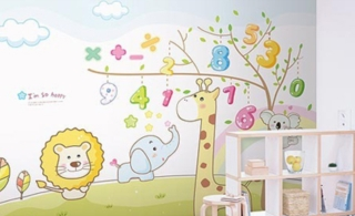 和孩子一起成长6款儿童房背景墙