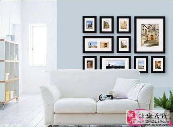 照片墻效果圖 給客廳不一樣的風景