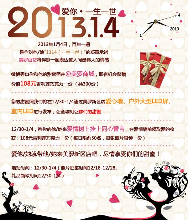 201314(爱你一生一世)