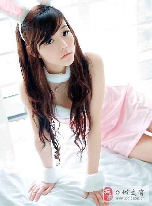 清纯可爱小兔子_美女图片