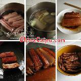 [分享]给大家介绍梅花扣肉的做法,学好了做给家人哦!