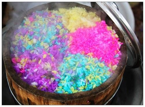 壮族花米饭