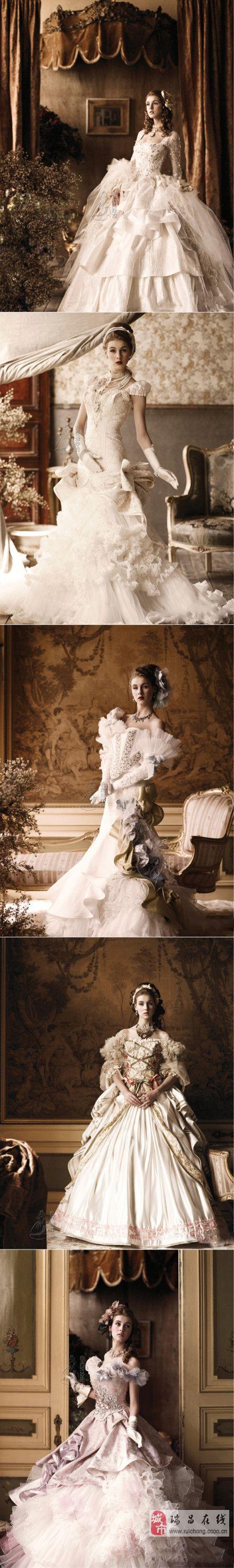 宫廷婚纱款,你喜欢那个。