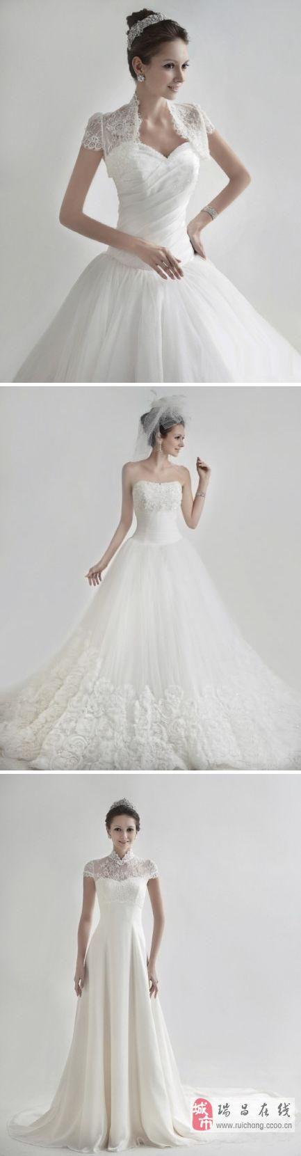 三款唯美气质的婚纱、、