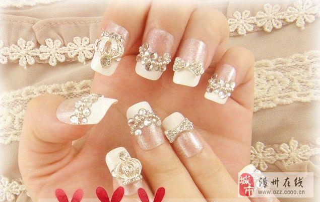[推荐]2013最新法式新娘美甲,浪漫小细节点缀出芊芊玉指