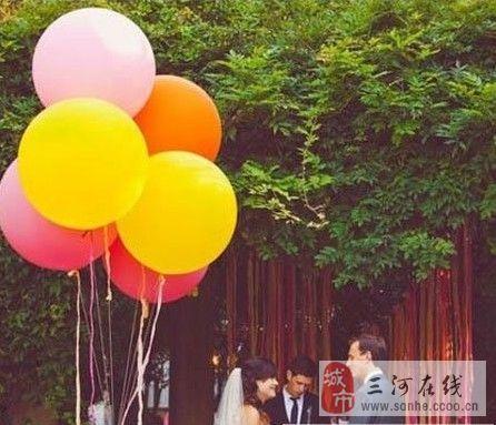 创意气球婚礼布置方案 圆你一个轻盈飞天梦
