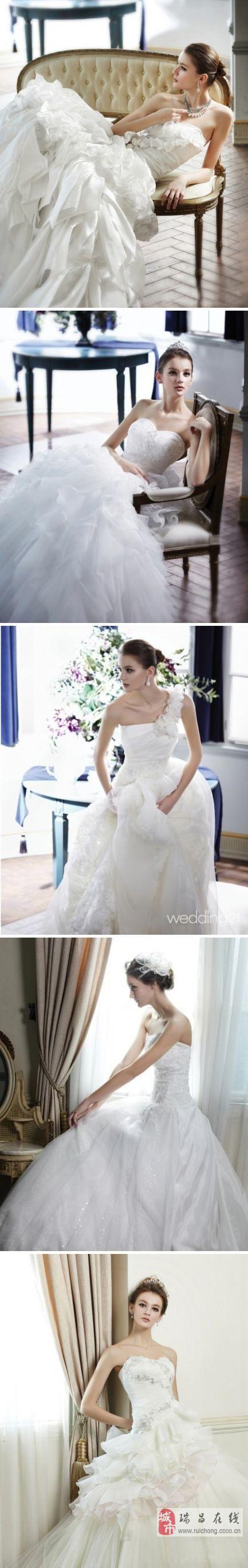 五款唯美浪漫的抹胸婚纱