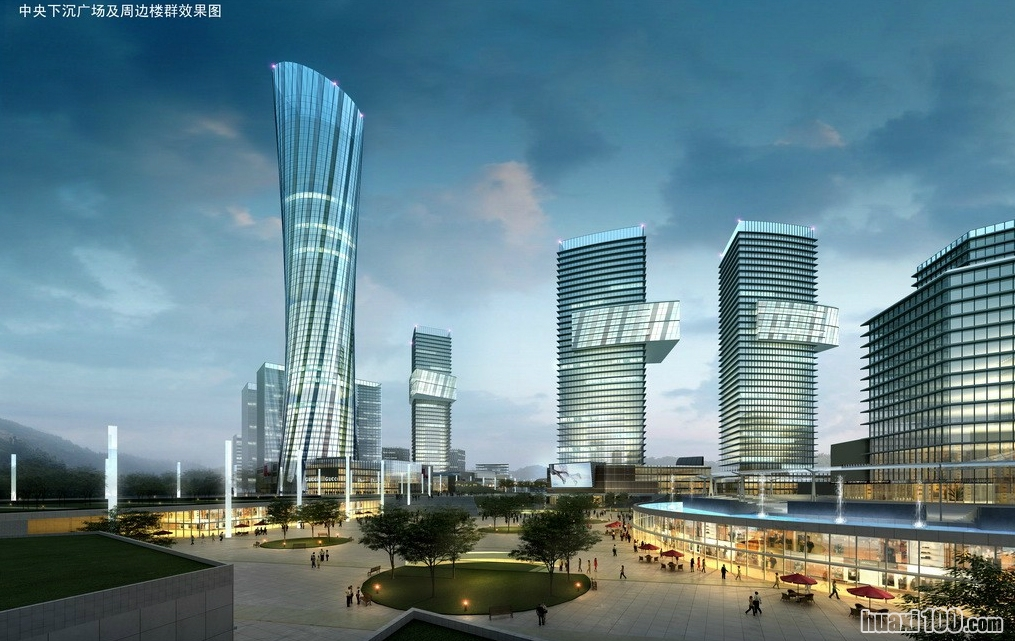 泸州未来城市规划效果图