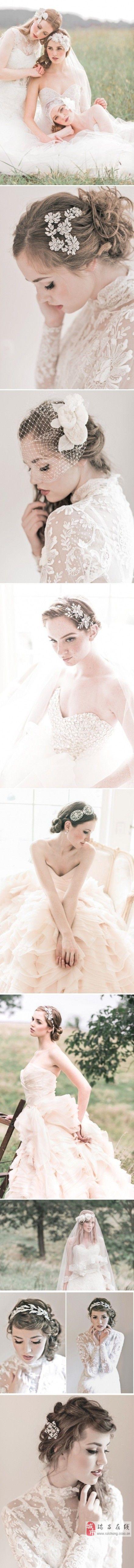 唯美新娘发饰