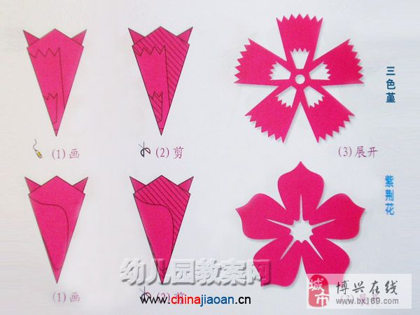 雨伞剪纸步骤图解简单