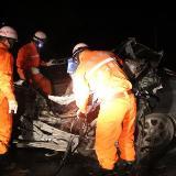 204省道余庆县与湄潭县交界处发生一起交通事故
