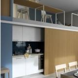 可隐藏的开放式厨房设计 小户型更整洁