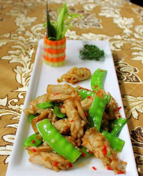 素食年夜饭-杏鲍菇炒荷兰豆