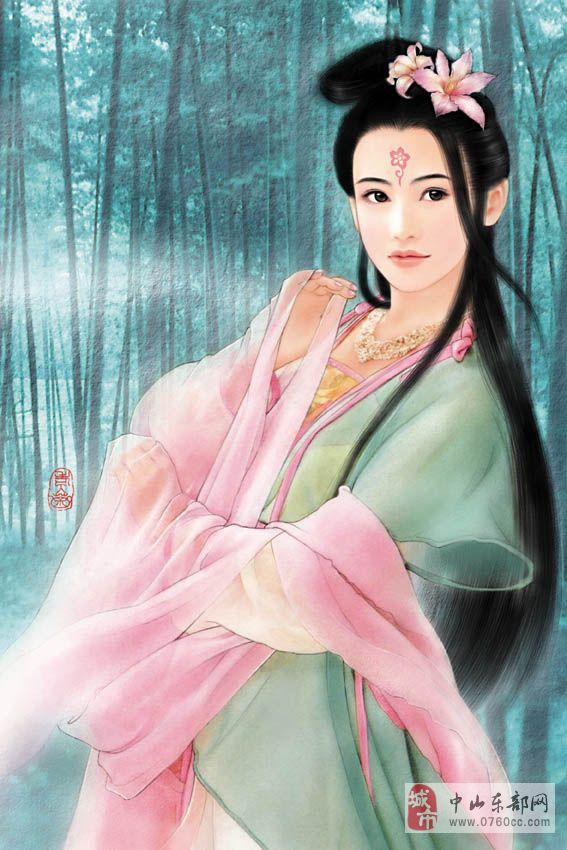 古代美女手绘图 亦梦亦幻的很唯美!