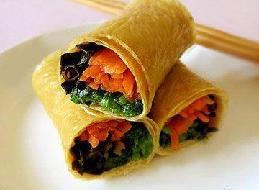 腐皮卷素菜