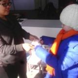 爱心捐助。北环路实验幼儿园