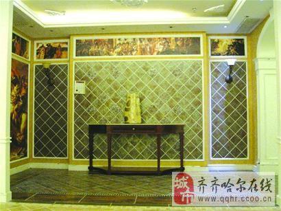 客厅贴墙砖效果图;