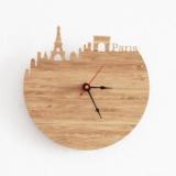 创意城市剪影时钟