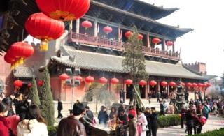 山西稷山:大佛寺传统登高节万人祈福纳祥