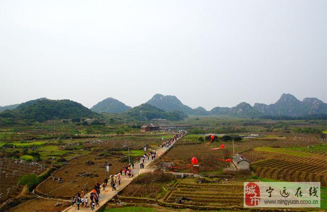 湖南蓝山县首届乡村文化旅游节暨第二届梨花节今在大洞风情梨园举行