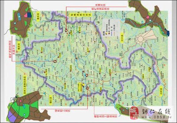 铜仁印江县地图