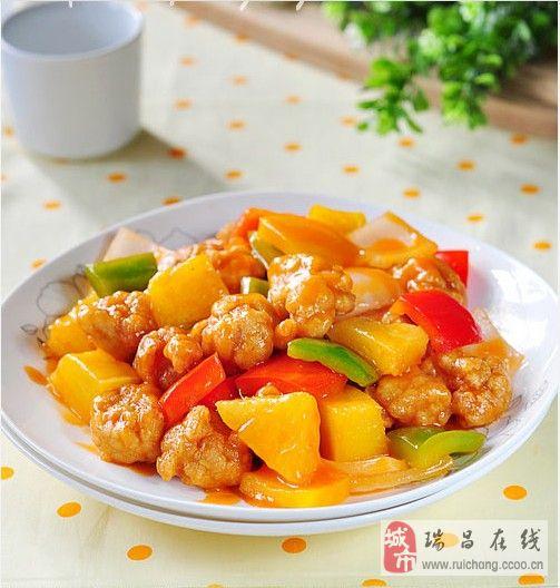 应季水果菜――-菠萝咕噜肉
