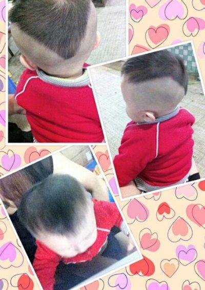 可爱的宝宝,酷酷的发型!