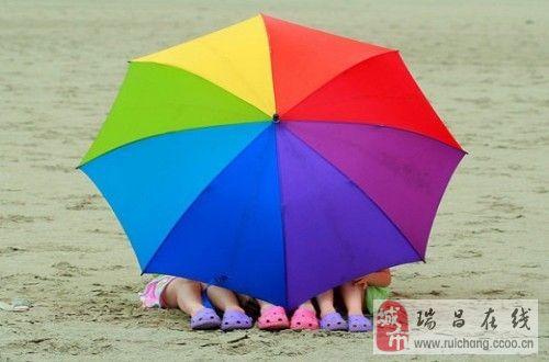 雨伞美丽了风景。