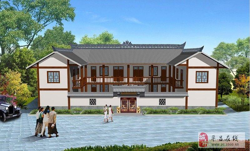 农村小别墅设计图300平米两层带游泳池 宽640×404高 农村小二楼一层