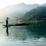 乡村江边风情摄影