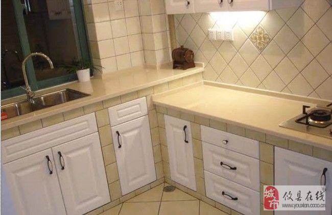 【春季装修妙】水泥版整体厨房————-哎,当初也该这样治,买啥整体厨房
