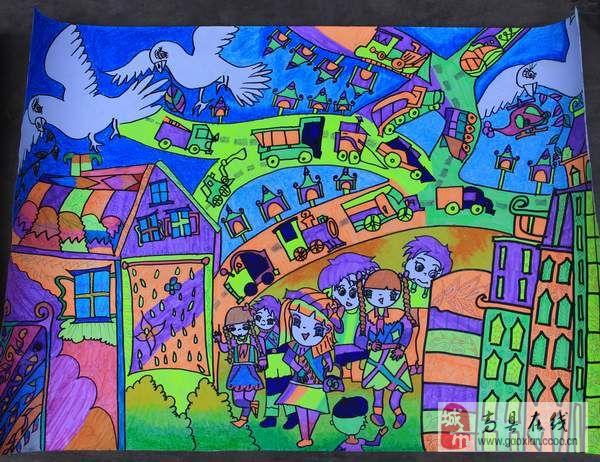 中国梦我的梦绘画-中国梦劳动美绘画图片大全 小学开展 我的中国梦